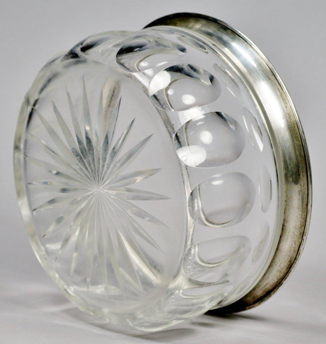 Elegant Silver & Faceted Glass Bowl 835 - 3