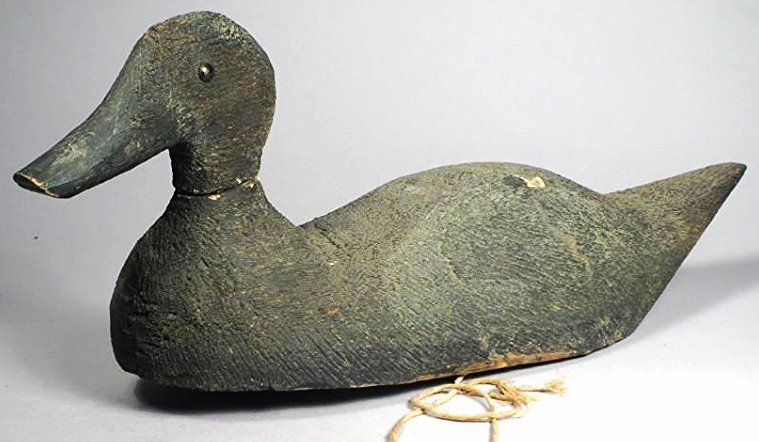 Antique Hand Carved Duck Decoy - 2