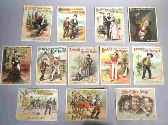 1886 Oliver D. Byron Theater Trade Cards