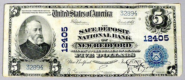 Safe Deposit National Bank Five Dollar Note