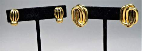 Bulgari & Gubelin 18k Yellow Gold Earrings