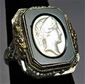 Victorian 14K Gold Ring,  Cameo