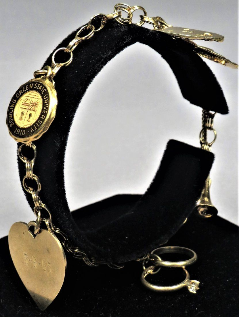 Sweet 14K Yellow Gold Charm Bracelet