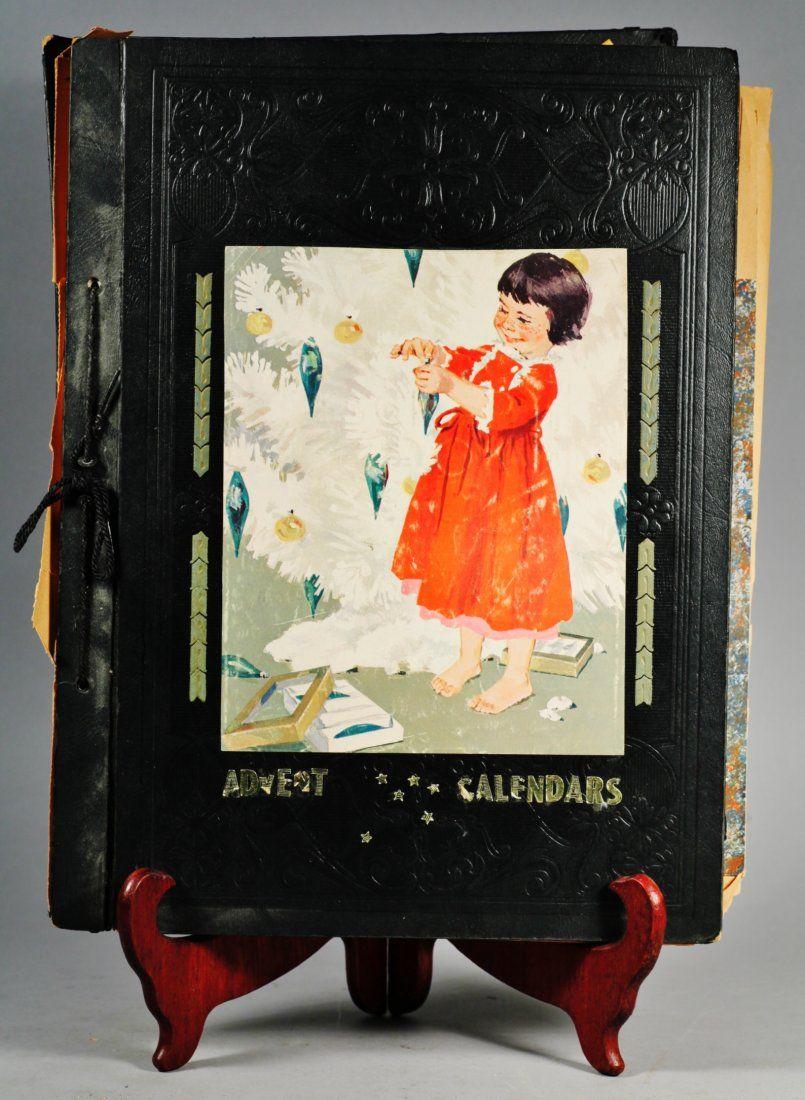 1960's Advent Calendar Scrapbook