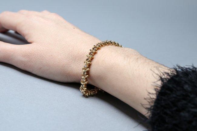 5ct  Chocolate Diamond Tennis Bracelet, 14 K