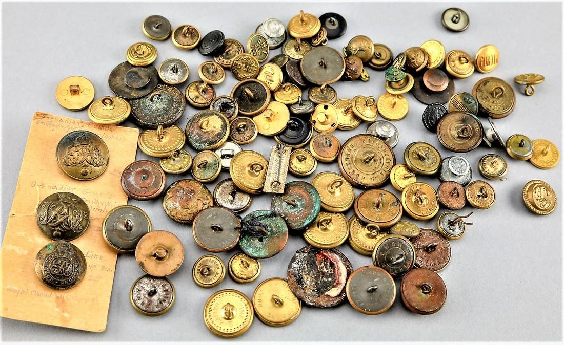 Lot Brass Uniform Buttons, Police, Military  Railroad - 2