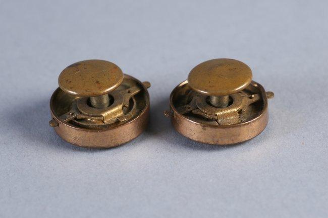Antique Pair 14K Gold & Stone Cufflinks - 3