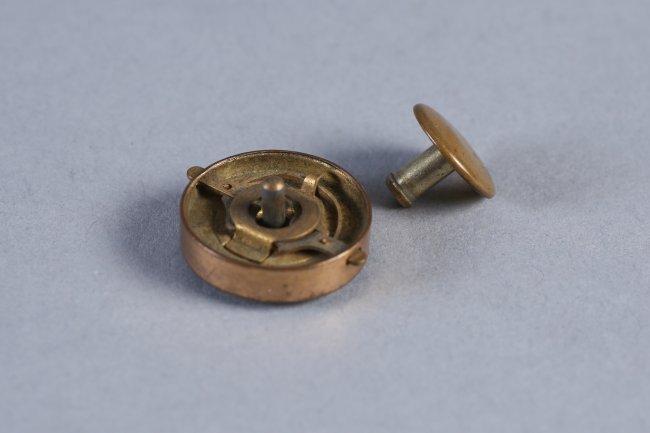 Antique Pair 14K Gold & Stone Cufflinks - 4