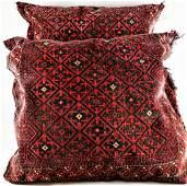 Antique  Persian Oriental Rug Carpet Fragments Pillows