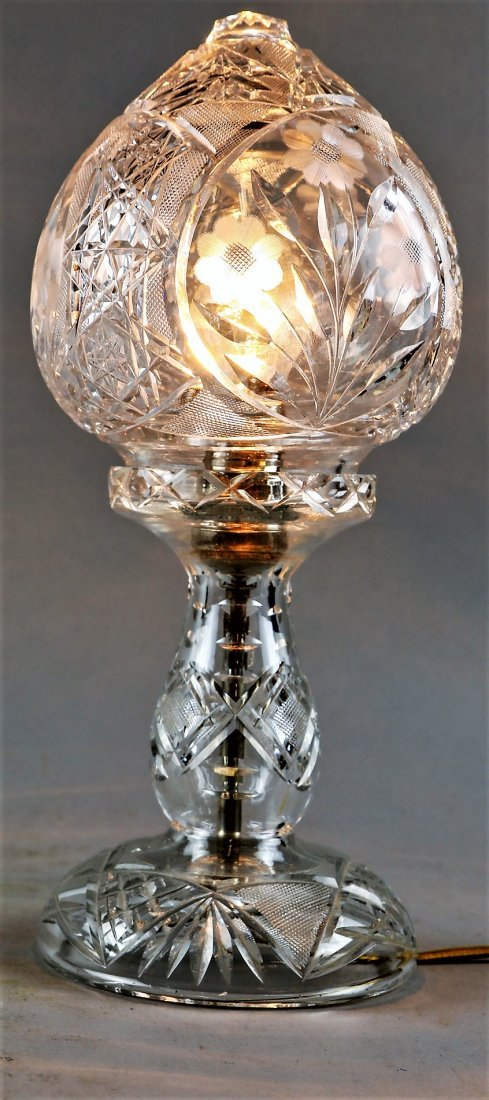 Vintage Crystal Table Lamps For Sale Antique Crystal Table Lamps