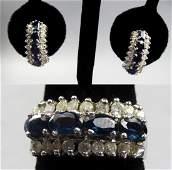 Lovely 14k Gold Sapphire & Diamond Set