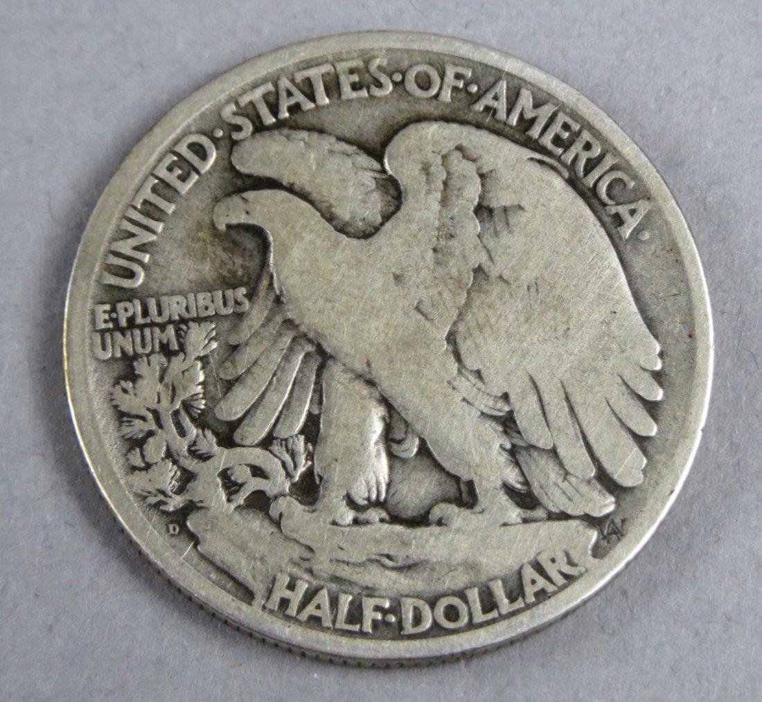 1921 D Walking Liberty Half Dollar - 2