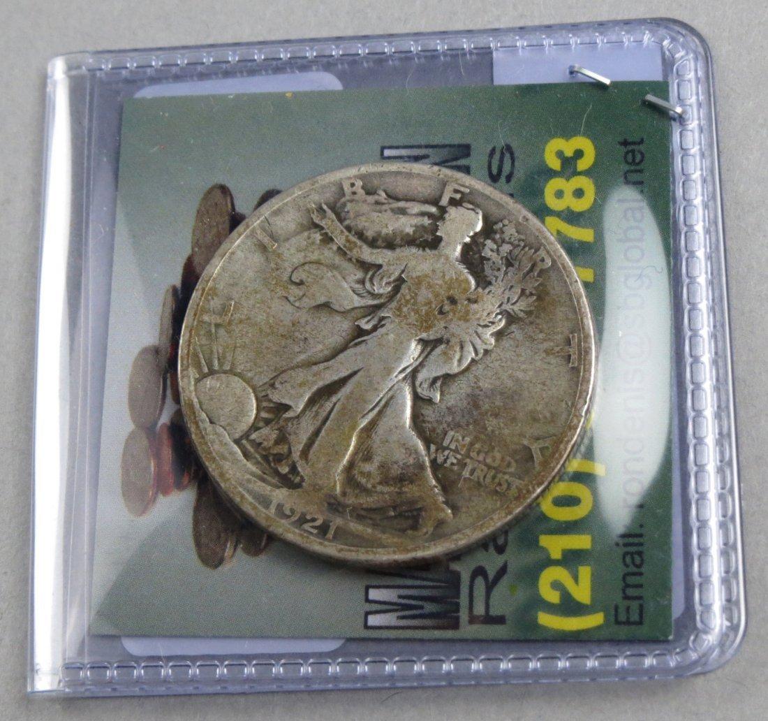 1921 D Walking Liberty Half Dollar - 3