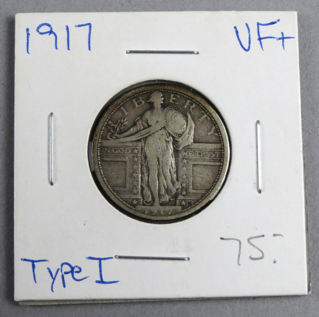 1917 P Standing Liberty Quarter Type 1