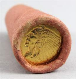 Unsearched Roll Showing $2.5 1928 Indian Gold Coin End