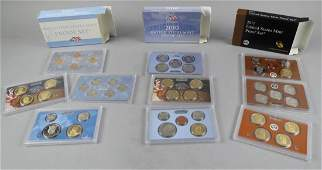 3 Yearly US Mint Proof Coin Sets