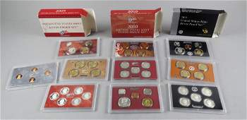 3 Silver US Mint Proof Coin Sets 2009-11