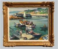 Carl Peters (1897-1980) Pigeon Cove Pier