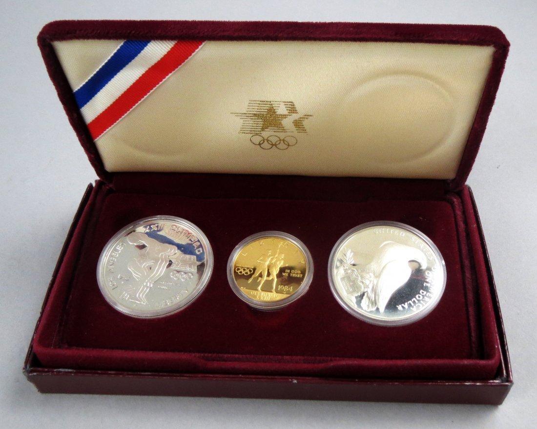 1886 - 1986 Liberty Coin Set  5 dollar gold & Silver Co