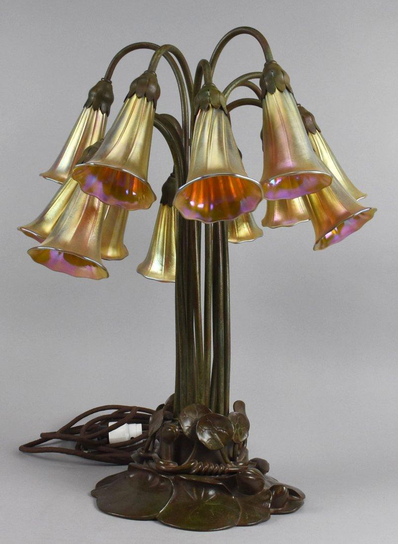 Tiffany Studio Style, 12 Light Lily Lamp