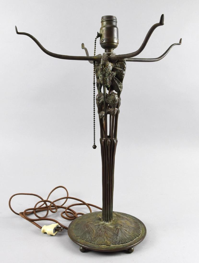 Tiffany Style Bronze  Fern Lamp Base
