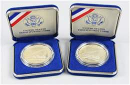Lot of 2 1987 Silver Constitution Dollar