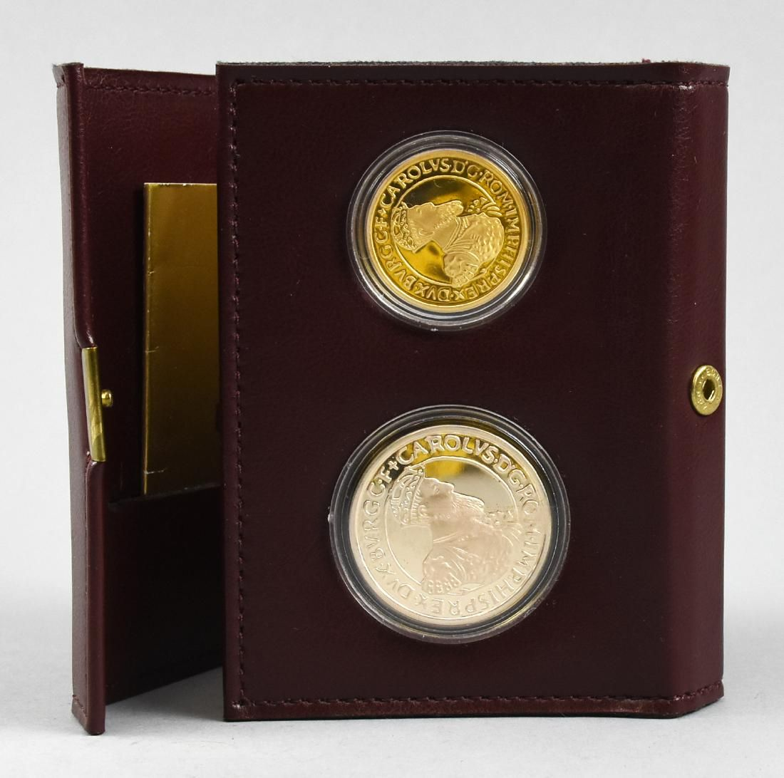 1987 Belgium Ecu Gold and Silver Proof coin set 2