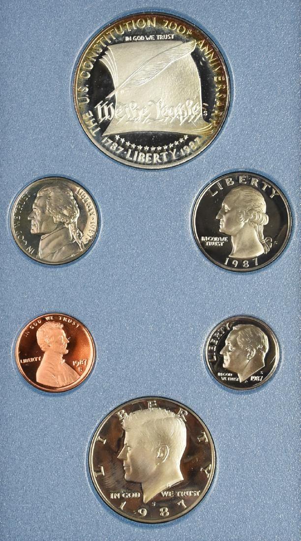 1987 Proof Prestige Set, Featuring a Silver Dollar