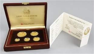 1990 Singapore Lion 5 Piece Gold Proof Set