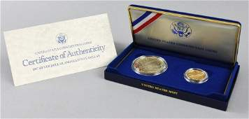 United States Constitutions Coin Lot Gold & Silver