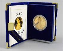 $50 Gold American Eagle coin , 1 troy Oz