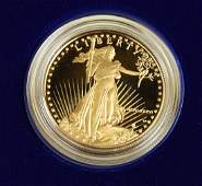 $50 Gold American Eagle coin, 1 Troy Oz