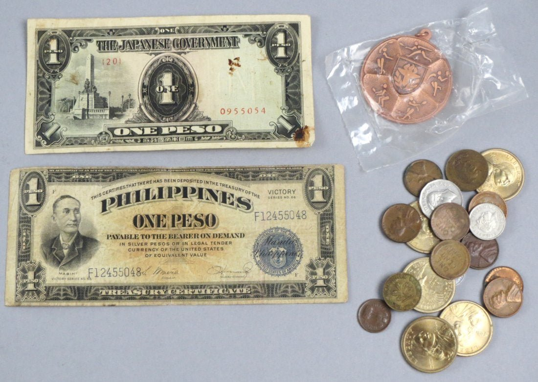 Lot of World Coins and Bills
