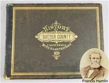c1879 History of Sutter County California BOOK
