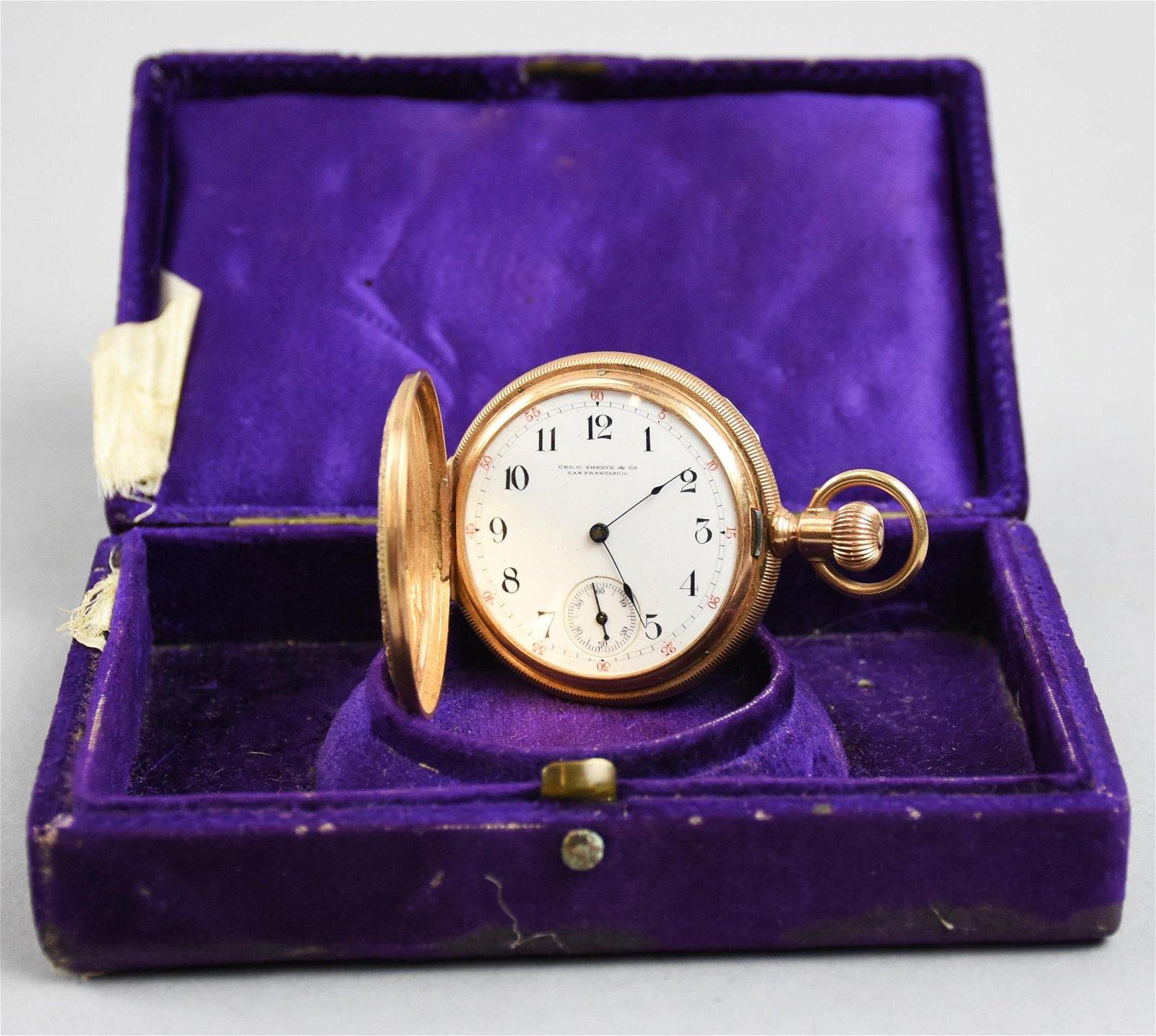 1890 14K American Waltham Pocket Watch, Annis Hamlin