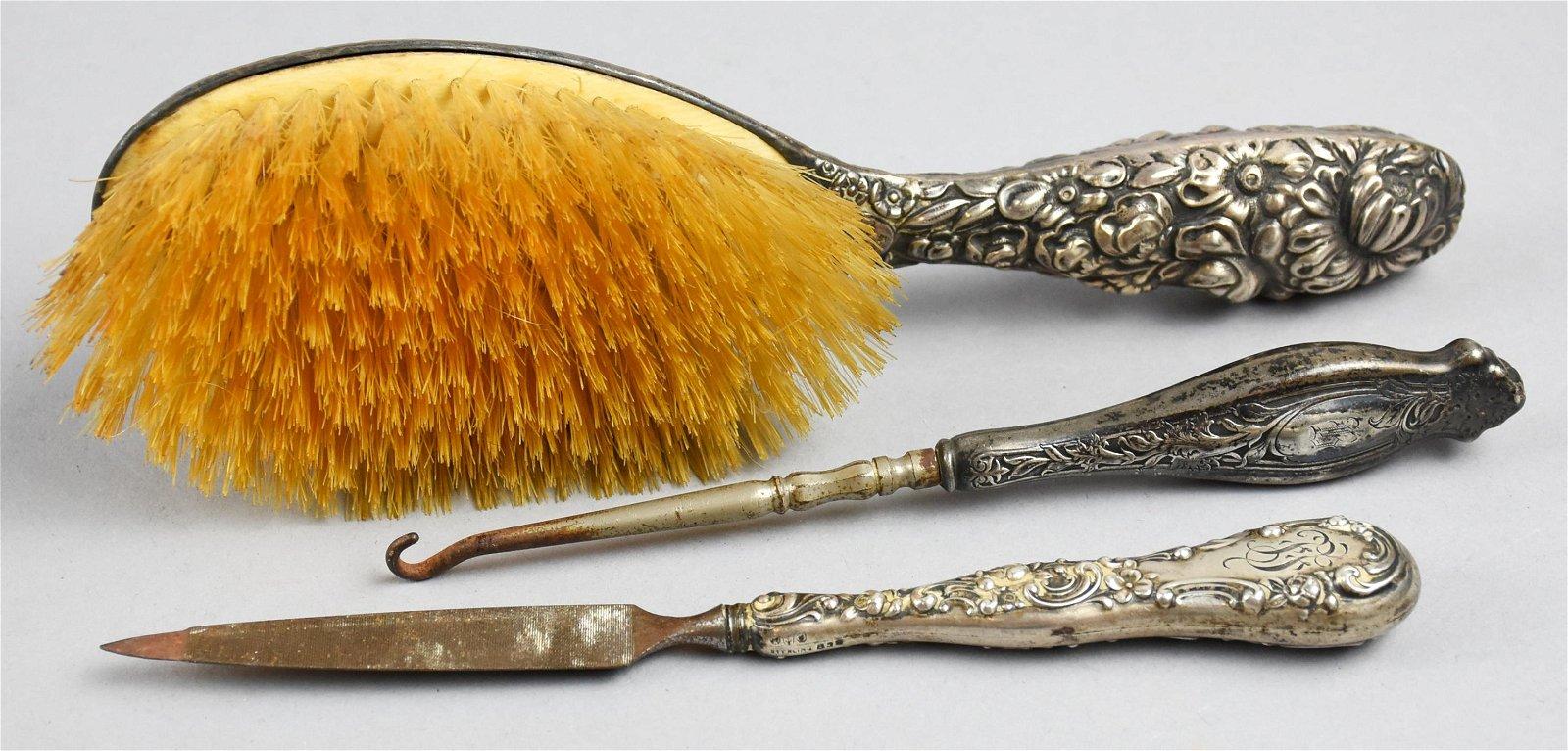 Antique Gorham Sterling Vanity Items
