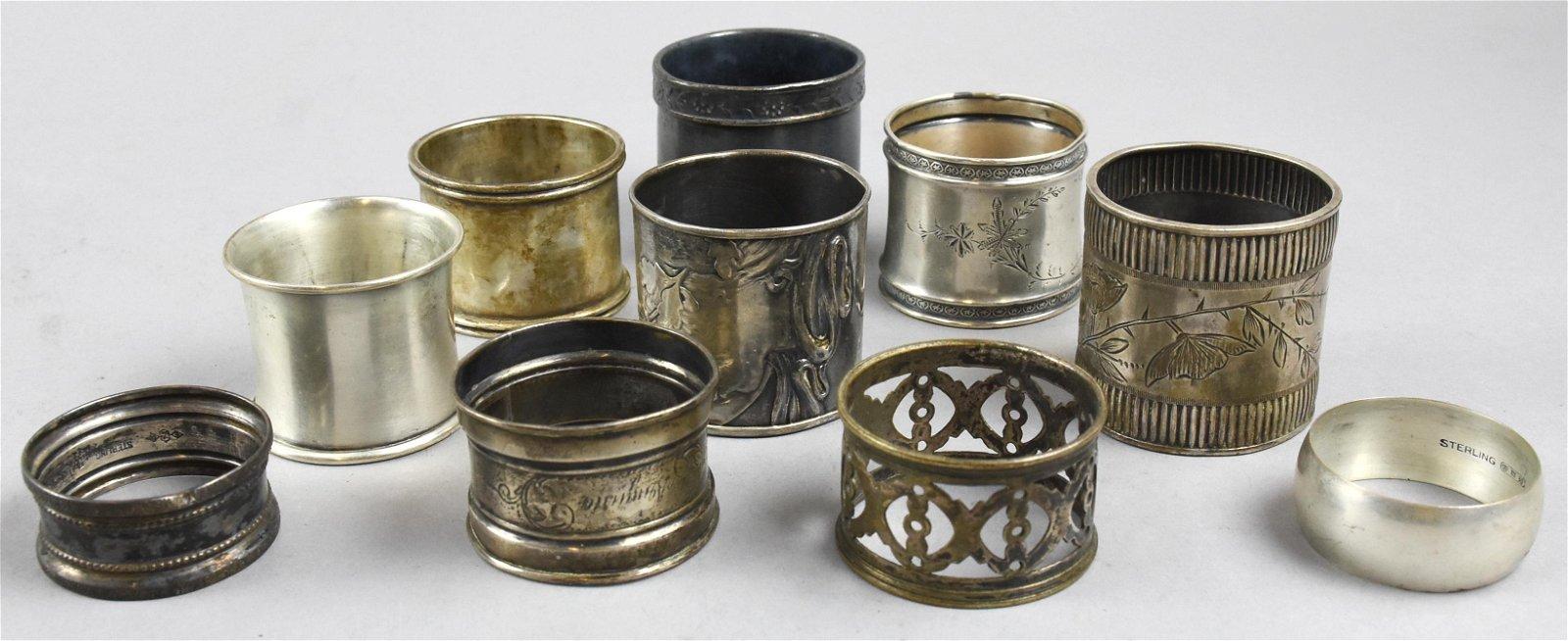 Antique Sterling Napkin Holders, Unger Bros, Gorham &