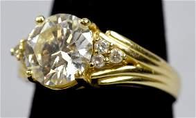 Stunning GIA Cert. 2.52ct VS2 Diamond Ring 14k Gold