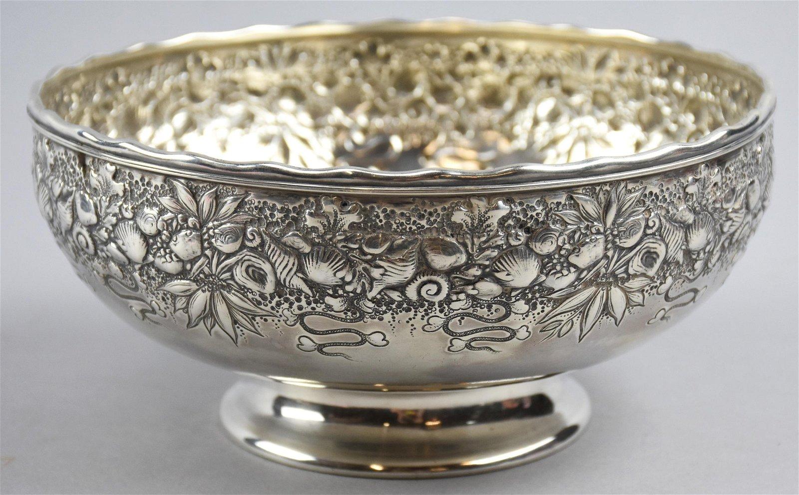 Antique Gorham Sterling Silver Repousse Bowl