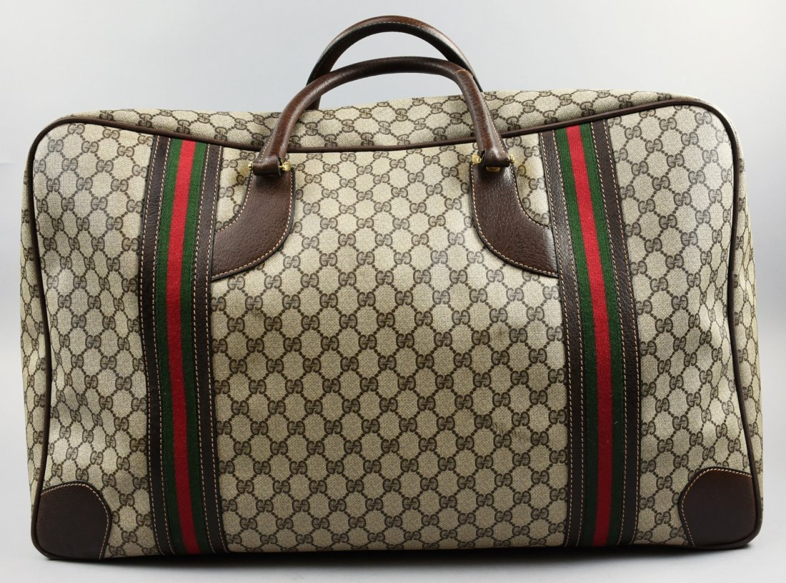 1982 GUCCI Monogram Suitcase/Luggage Vintage