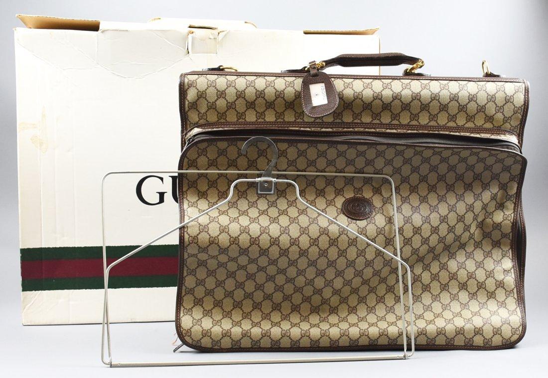 Vintage GUCCI Monogram Garment Bag/Outside Pocket