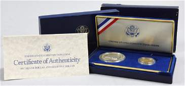 1987 United States Constitution Silver and Gold Proof C