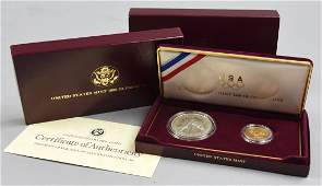 1988 United States Olympic Gold and Silver Proof Coin S