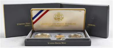 1991 Mount Rushmore Aniversary Gold Silver Coin Set