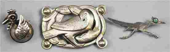 Vintage Sterling Bird Brooch Lot taxco & Mexican