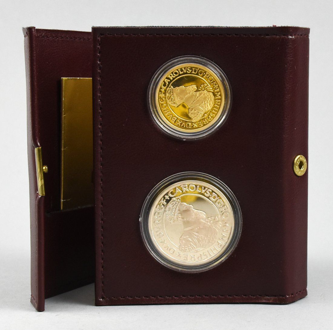 1987 Belgium Ecu Gold and Silver Proof coin set