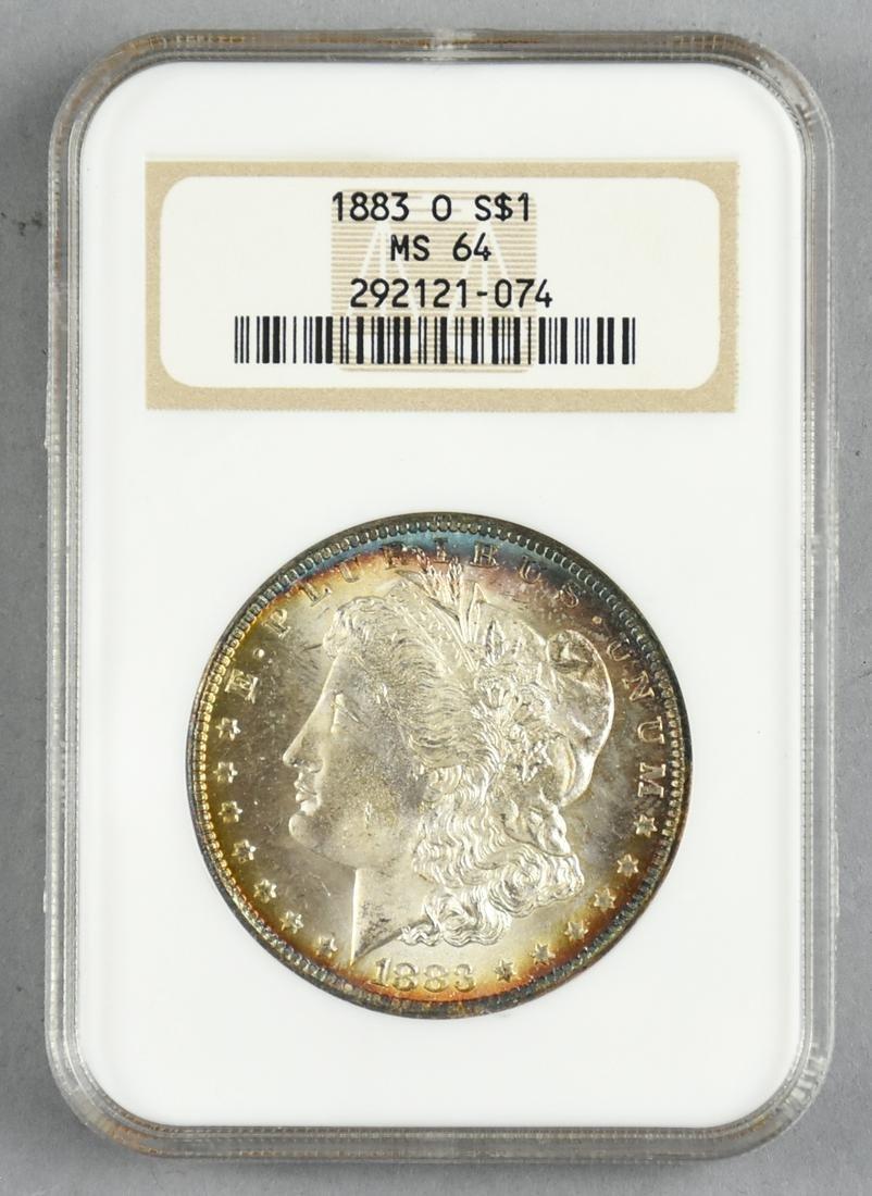 1883 O MS64 Morgan Silver Dollar NGC Graded