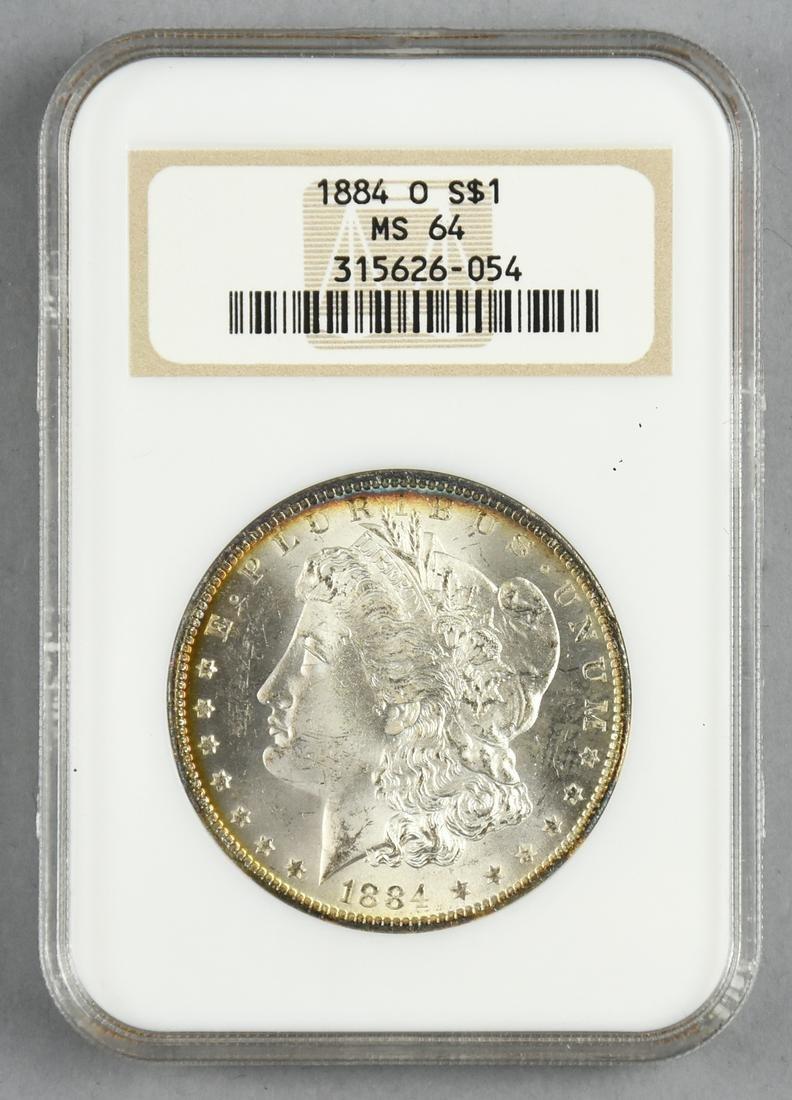 1884 O MS64 Morgan Silver Dollar NGC Graded