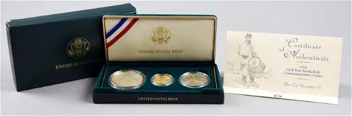1995 Civil War Battlefield Commemorative Set US Mint