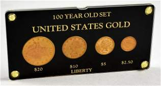 4 US Gold COINS! 1878 $20, 1881 $10 & $5, 1878 $2 1/2
